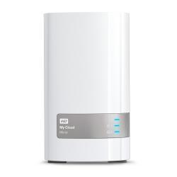 Serveur de stockage en réseau WD My Cloud Mirror Gen 2 WDBWVZ0060JWT - Dispositif de stockage personnel dans le nuage - 2 Baies - 6 To - HDD 3 To x 2 - RAID 1 - Gigabit Ethernet