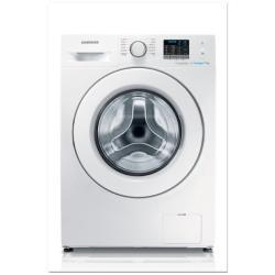 Lave-linge Samsung Serie 4000 WF90F5E0W2W - Machine à laver - pose libre - largeur : 60 cm - profondeur : 55 cm - hauteur : 85 cm - chargement frontal - 9 kg - 1200 tours/min - blanc
