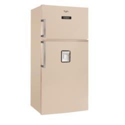 Réfrigérateur Whirlpool WTH5244 NFM - Réfrigérateur/congélateur - pose libre - largeur : 81 cm - profondeur : 72 cm - hauteur : 182 cm - 515 litres - congélateur haut - classe A+ - marbre