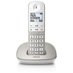 Téléphone fixe Philips XL4901S - Téléphone sans fil avec ID d'appelant/appel en instance - DECT\GAP - argenté(e)