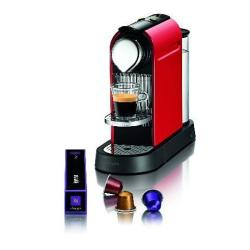 Expresso et cafetière Krups Nespresso CitiZ XN 7205 - Machine à café - 19 bar - rouge feu