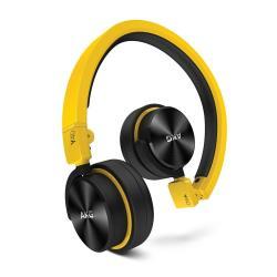 AKG Y40 - Casque avec micro - sur-oreille - jack 3.5mm - Noir avec des touches jaunes