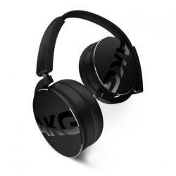 AKG Y50 - Casque avec micro - sur-oreille - jack 3.5mm - isolation acoustique - noir