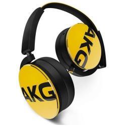 AKG Y50 - Casque avec micro - sur-oreille - jack 3,5mm - jaune