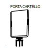Porta cartello Markin - Porta cartello crom. a4 vert. m200