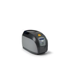 Imprimante thermique code barre Zebra ZXP Series 1 - Imprimante cartes plastiques - couleur - thermique par sublimation - CR-80 Card (85.6 x 54 mm) - 300 ppp - jusqu'à 500 cartes/heure (mono) / jusqu'à 120 cartes/heure (couleur) - capacité : 100 cartes - USB 2.0, LAN