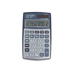 Calculatrice Citizen CPC-112 - Calculatrice de poche - 12 chiffres - panneau solaire, pile - argenté(e)