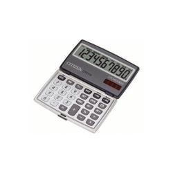 Calculatrice Citizen CTC-110 - Calculatrice de poche - 10 chiffres - panneau solaire, pile - argenté(e)