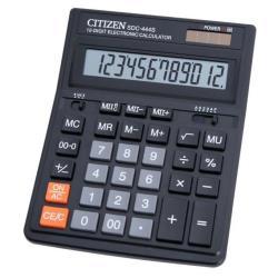 Calculatrice Citizen SDC-444S - Calculatrice de bureau - 12 chiffres - panneau solaire, pile - noir