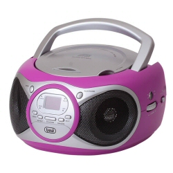 Boombox Trevi - CD 512 Fucsia dock Iphone Ipod