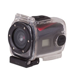 Caméra sportive trevi GO 2100 HD - Caméra de poche - fixable - 720 p / 30 pi/s - 1.3 MP - sous-marin jusqu'à 3 m - jaune
