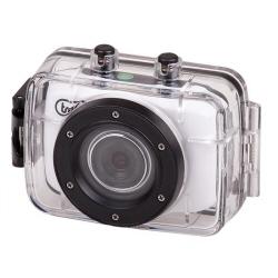 Caméra sportive trevi GO 2200 HD - Caméra de poche - fixable - 720 p / 30 pi/s - 1.3 MP - sous-marin jusqu'à 3 m - blanc