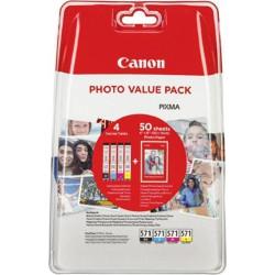 Canon - Cli-571xl pack+50 fogli pp 201 bl