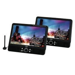 Lecteur DVD portable trevi tw 7009 dvt - Lecteur DVD avec écran LCD/écran LCD - affichage - 9 po - externe