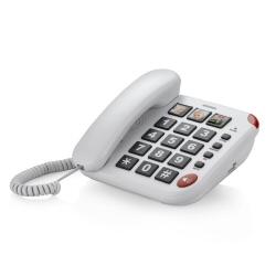Téléphone fixe Brondi BRAVO 15 - Téléphone filaire - blanc