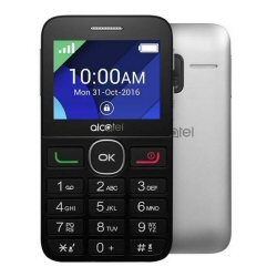 Telefono cellulare One Touch 2008G Black-Metal Silver - alcatel - monclick.it