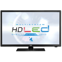 "TV LED trevi MULTISYSTEM LTV 2401 SAT - Classe 24"" TV LED - 720p - D-LED Backlight - noir brillant"