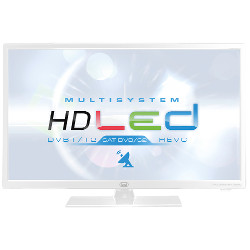 "TV LED trevi MULTISYSTEM LTV 2401 SAT - 24"" Classe TV LED - 720p - D-LED Backlight - blanc"