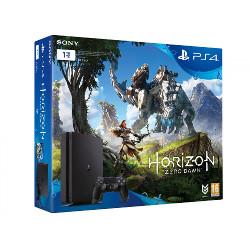Console Sony PlayStation 4 - Console de jeux - HDR - 1 To HDD - noir de jais - Horizon Zero Dawn
