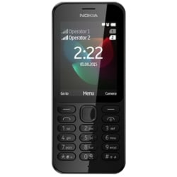 Téléphone portable Nokia 222 Dual SIM - Téléphone mobile - double SIM - microSDHC slot - GSM - 320 x 240 pixels (166 ppi) - 2 MP - noir