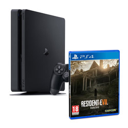 PS4 500 Gb Slim + Resident Evil 7 Biohazard