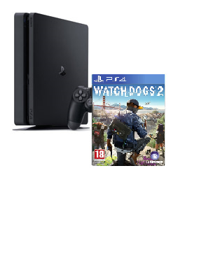 PS4 Slim 500 GB + Watch Dogs 2
