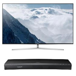 TV LED Samsung Smart UE55KS9000 + Blu-ray UHD 4K UBD-K8500/ZF a solo 1¤!