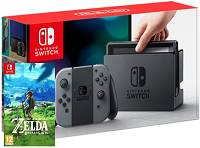 Nintendo Switch Grey + Zelda Breath of the Wild