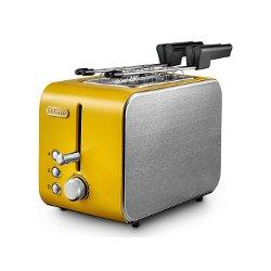 Grille pain De'Longhi CTX 2203.Y - Grille-pain - 2 tranche - 2 Emplacements - jaune
