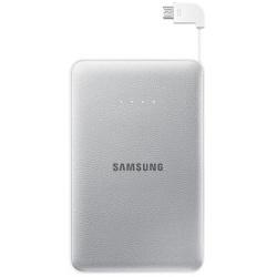 Chargeur Samsung EB-PN915B - Banque d'alimentation 11300 mAh - 2000 mA - 2 connecteurs de sortie (USB (alimentation uniquement), Micro-USB de type B (alimentation uniquement)) - sur le câble : Micro-USB - argenté(e) - pour Galaxy Core Prime VE