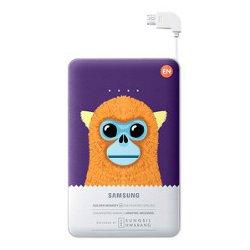 Chargeur Samsung EB-PN915B Special Edition - Banque d'alimentation 11300 mAh - 2000 mA - 2 connecteurs de sortie (USB (alimentation uniquement), Micro-USB de type B (alimentation uniquement)) - sur le câble : Micro-USB - violet (singe doré) - pour Galaxy Core Prime VE