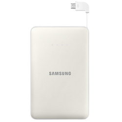 Chargeur Samsung EB-PN915B - Banque d'alimentation 11300 mAh - 2000 mA - 2 connecteurs de sortie (USB (alimentation uniquement), Micro-USB de type B (alimentation uniquement)) - sur le câble : Micro-USB - blanc - pour Galaxy Core Prime VE