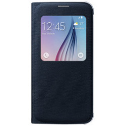 Cover Samsung - S-view cover fabric black s6