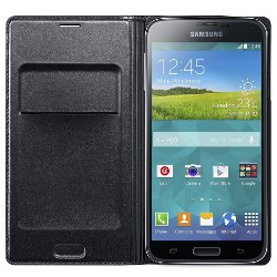 Foto Cover Flip wallet nera s5 Samsung
