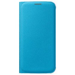 Cover Samsung - Flip wallet fabric blu s6