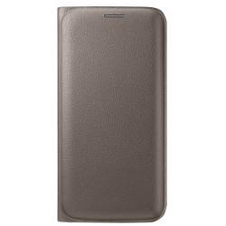 Cover Samsung - Flip wallet s6 edge gold