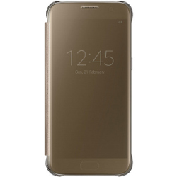 Foto Cover Clear view cover gold s7 Samsung