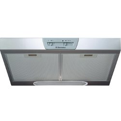 Hotte Electrolux EFT635X - Protection- groupe filtrant - largeur : 59.8 cm - profondeur : 51 cm - evacuation & recyclage - inox