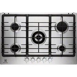 Plan de cuisson Electrolux EGG7353NOX - Table de cuisson au gaz - 5 plaques de cuisson - Niche - largeur : 56 cm - profondeur : 48 cm - inox