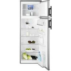 Réfrigérateur Electrolux EJ2803AOX2 - Réfrigérateur/congélateur - pose libre - largeur : 54.5 cm - profondeur : 60.4 cm - hauteur : 159 cm - 265 litres - congélateur haut - classe A+ - inox