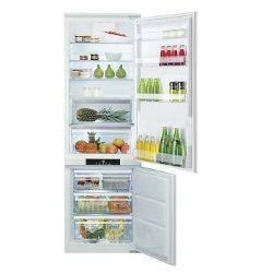Réfrigérateur encastrable Hotpoint Ariston BCB 7030 D AA - Réfrigérateur/congélateur - intégrable - niche - largeur : 56 cm - profondeur : 55 cm - hauteur : 177.6 cm - 275 litres - congélateur bas - classe A+ - Acier