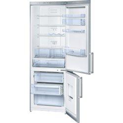Réfrigérateur Bosch KGN49VI20 - Réfrigérateur/congélateur - pose libre - largeur : 70 cm - profondeur : 62 cm - hauteur : 200 cm - 389 litres - congélateur bas - classe A+ - inox