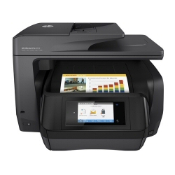 Imprimante  jet d'encre multifonction HP Officejet Pro 8725 All-in-One - Imprimante multifonctions - couleur - jet d'encre - A4 (210 x 297 mm), Legal (216 x 356 mm) (original) - A4/Legal (support) - jusqu'� 37 ppm (copie) - jusqu'� 37 ppm (impression) - 250 feuilles - USB 2.0, LAN, Wi-Fi(n), h�te USB