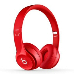 Beats Solo2 (PRODUCT)RED - Casque avec micro - sur-oreille - jack 3.5mm - rouge - pour 12.9-inch iPad Pro; 9.7-inch iPad Pro; iPad (3rd generation); iPad 1; 2; iPad Air; iPad Air 2; iPad mini; iPad mini 2; 3; 4; iPad with Retina display; iPhone 3G, 3GS, 4, 4S, 5, 5c, 5s, 6, 6 Plus, 6s, 6s Plus, SE; iPod (4G, 5G); iPod classic; iPod mini; iPod nano; iPod shuffle; iPod touch