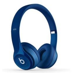 Beats by Dr. Dre Solo2 - Casque avec micro - sur-oreille - sans fil - Bluetooth - bleu - pour 12.9-inch iPad Pro; 9.7-inch iPad Pro; iPad (3rd generation); iPad 1; 2; iPad Air; iPad Air 2; iPad mini; iPad mini 2; 3; 4; iPad with Retina display; iPhone 3G, 3GS, 4, 4S, 5, 5c, 5s, 6, 6 Plus, 6s, 6s Plus, SE; iPod (4G, 5G); iPod classic; iPod mini; iPod nano; iPod shuffle; iPod touch
