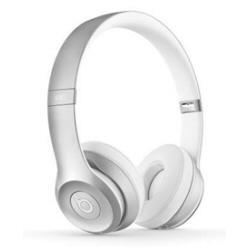 Beats by Dr. Dre Solo2 - Casque avec micro - sur-oreille - sans fil - Bluetooth - argent�(e) - pour 12.9-inch iPad Pro; 9.7-inch iPad Pro; iPad (3rd generation); iPad 1; 2; iPad Air; iPad Air 2; iPad mini; iPad mini 2; 3; 4; iPad with Retina display; iPhone 3GS, 4, 4S, 5, 5c, 5s, 6, 6 Plus, 6s, 6s Plus, SE; iPod nano (7G); iPod touch; TV; Watch; Watch Edition; Watch Herm�s; Watch Sport