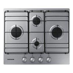 Plan de cuisson Samsung NA64H3110BS - Table de cuisson au gaz - 4 fraise-mères - Niche - largeur : 56 cm - profondeur : 49 cm - inox