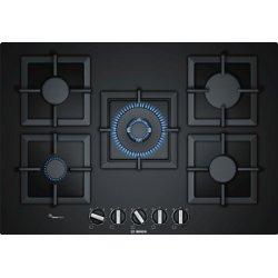 Plan de cuisson Bosch Serie 6 PPQ7A6B20 - Table de cuisson au gaz - 5 plaques de cuisson - Niche - largeur : 56 cm - profondeur : 48 cm - noir - avec garnitures noires - noir