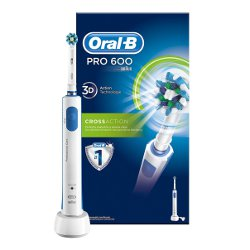 Brosse à dents éléctrique Oral-B Pro 600 CrossAction - Brosse à dents - sans fil