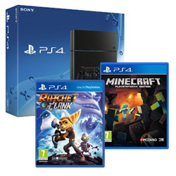 Console Sony - PS4 500GB + MINECRAFT + RATCHET & CLANK